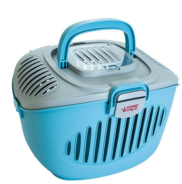 Paws2Go Small Animal Carrier, Grey/Blue