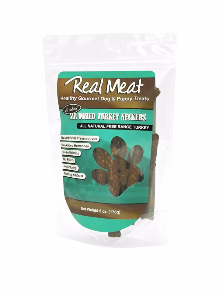 The Real Meat Co. 100% Pure Crunchers Poultry Neckers 6oz