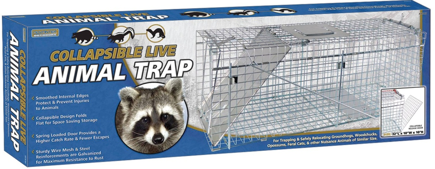 "Collapsible Live Trap 32"" x 10"" x 12"""