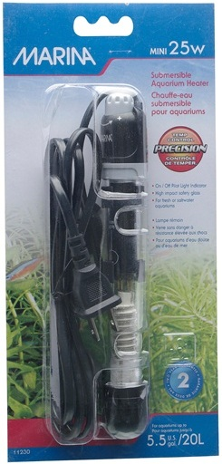 Marina Submersible Pre-Set Aquarium Heater, Mini 25W