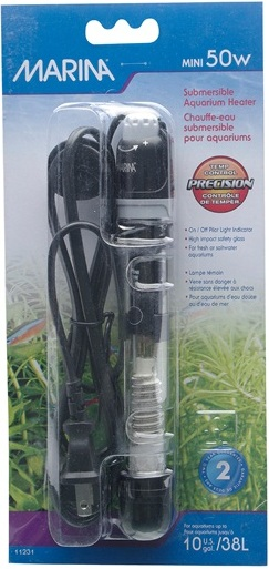 Marina Submersible Pre-Set Aquarium Heater, Mini 50W
