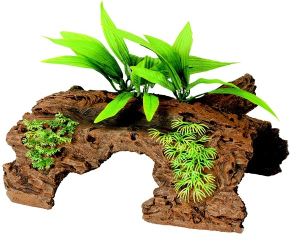Malaysian 1/2 Log Driftwood with Plants Large