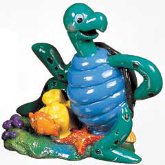 Marina Aqua Toons Ornament - Happy Turtle