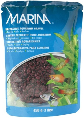 Marina Burgandy Decorative Aquarium Gravel
