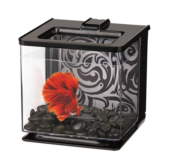 Marina Betta EZ Care Aquarium Black