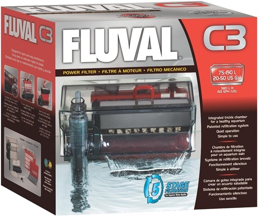 Fluval C3 Power Filter, 50gal.