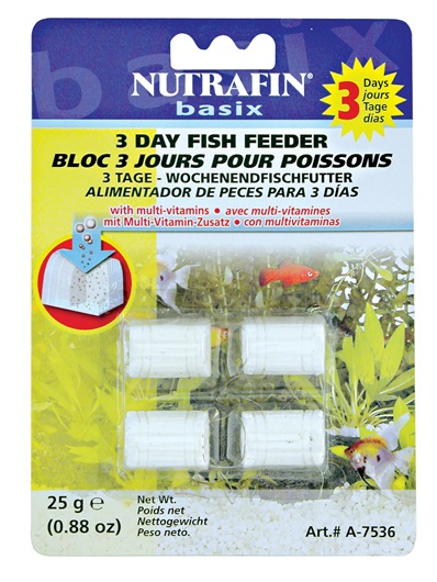 Nutrafin Basix 3 Day Fish Feeder (4 pack)