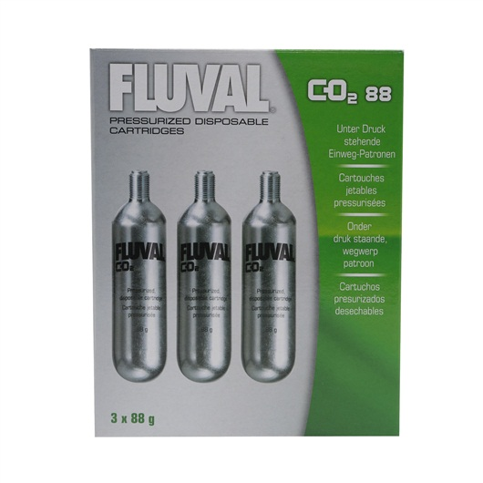 Fluval 88g CO2 Cartridges (3 pack)