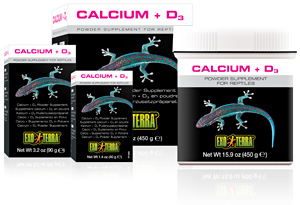 Exo Terra Calcium with D3 Powder Supplement