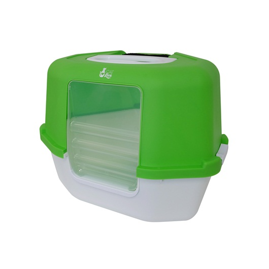 Space Saver Corner Hooded Cat Pan Green