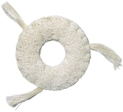 Loofah Ring with Catnip