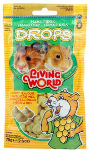 Living World Hamster Treat Honey Drops 2.6 oz.