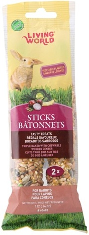 Living World Rabbit Sticks Vegetable Flavor 4 oz. 2-pack