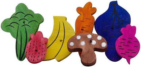 Nibblers Wood Chews - Fruit/Veggie Mix