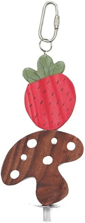 Nibblers Wood Chews - Strawberry & Mushroom on Stick