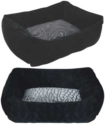 Rectangular Reversible Cuddle Bed Black by Dogit