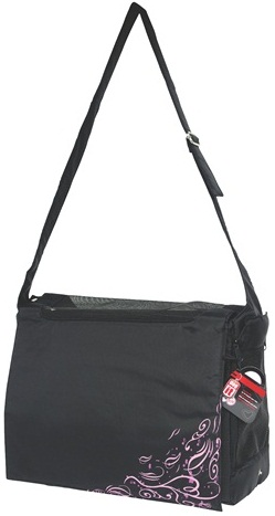 Dogit Nylon Messenger Dog Carry Bag, Urban, Black