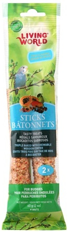 L/W Budgie Fruit Sticks 2 oz. (2 pack)