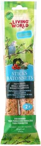 L/W Budgie Vegetable Sticks 2 oz. (2-pack)