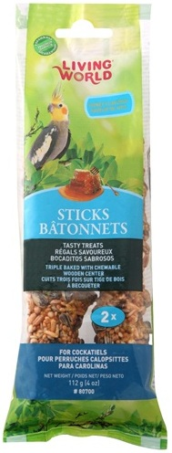 L/W Cockatiel Fruit Sticks 4 oz. (2-pack)