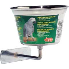 L/W Stainless Steel Parrot Cup (Medium)
