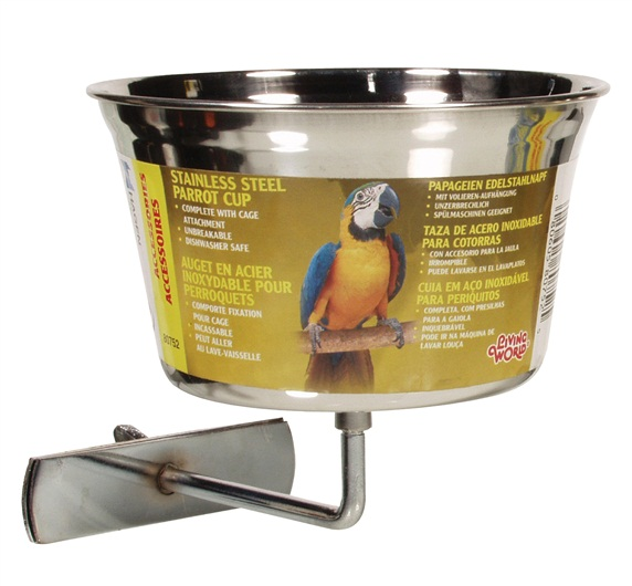 L/W Stainless Steel Parrot Cup (Large)