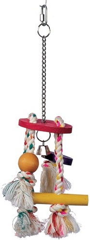 Living World Junglewood Rope Chime with Round Top