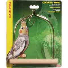 L/W Cockatiel Swing with Wooden Perch