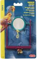 L/W Plastic Mirror Swing with Bell