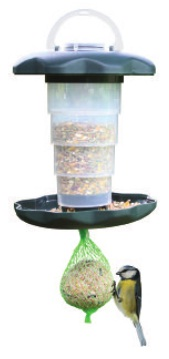 Outdoor Bird Feeder, Green