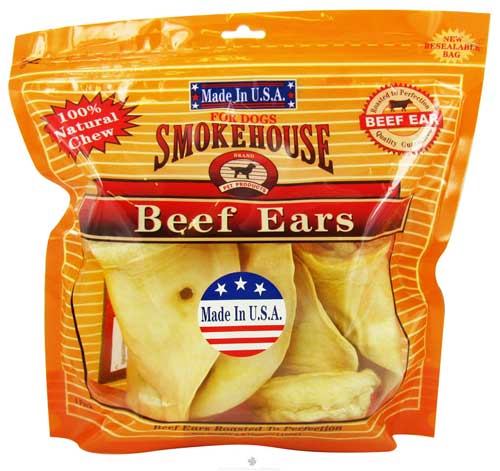 Smokehouse Beef Ears 4 Pack USA
