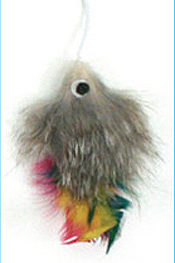 Cattachment Fur Fish Toy by Ware