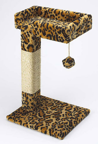 Kitty Cactus with Toy & Sisal Leopard Style by Ware