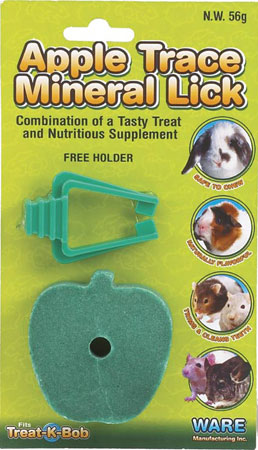 Apple Flavor Mineral Lick with Holder