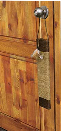 CatWare Seagrass Door Scratcher w/Feathers