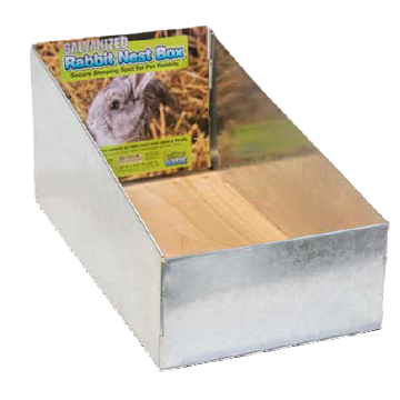 Galvanized Nest Box with Floor
