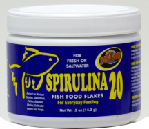 Zoo Med Spirulina 20 Fish Food Flakes