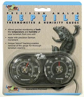 Zoo Med Analog Thermometer & Humidity Gauge Combo