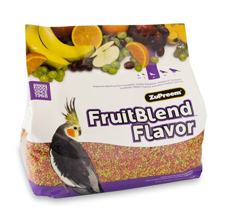 ZuPreem FruitBlend Medium (Cockatiels, Lovebirds, etc.)