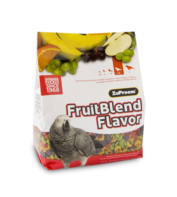 ZuPreem FruitBlend Medium-Large (Conures, Amazons, etc)