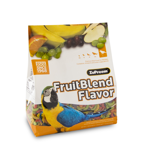 ZuPreem FruitBlend Large (Macaws, Cockatoos, etc)